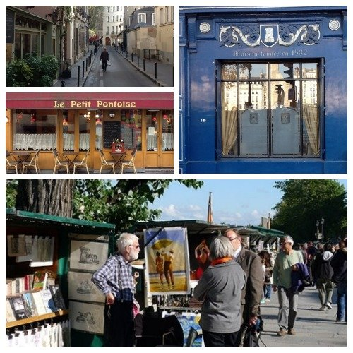 Charming Parisian Architecture and Streets in the Latin Quarter