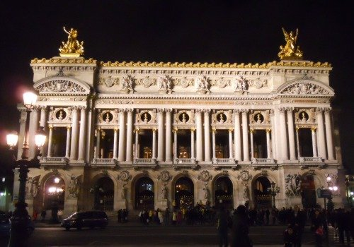 Visiting the Paris Opera Garnier at Night