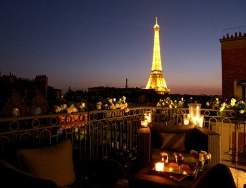 Paris Perfect Vacation Rental Balcony Eiffel Tower Night