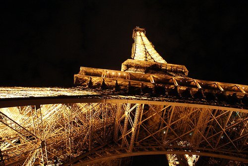 Visiting the Eiffel Tower at Night