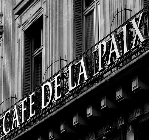 Cafe de la Paix in Paris