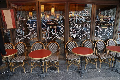 Warm up at a Parisian Cafe