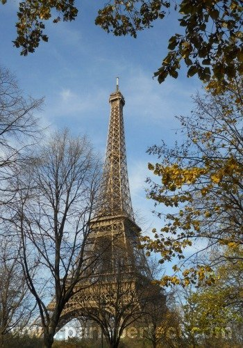 Autumn in Paris at the Eiffel Tower