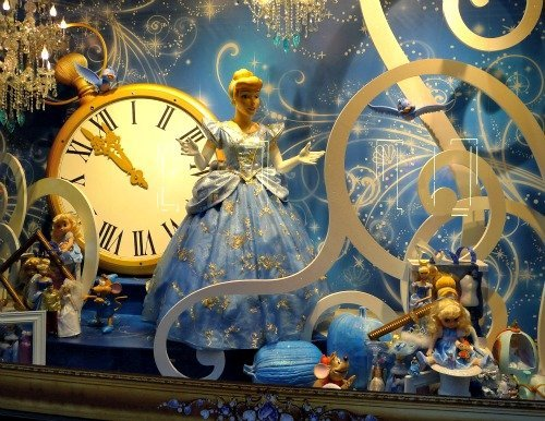 Cinderella at the Galeries Lafayette Christmas Windows