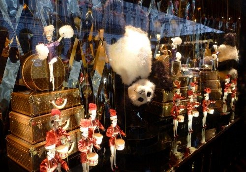 Louis Vuitton Panda Christmas Window Paris