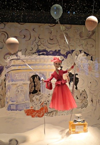 Dior Christmas Windows Printemps Paris