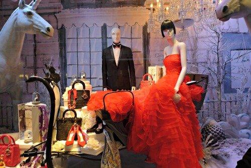 Dior Christmas Windows Paris Printemps
