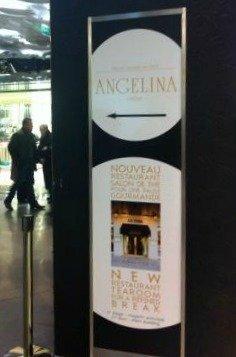 Angelina Galeries Lafayette Paris Sign