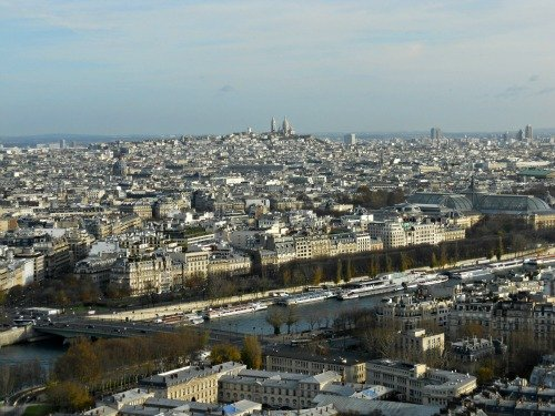 View of Montmartre from Eiffel Tower