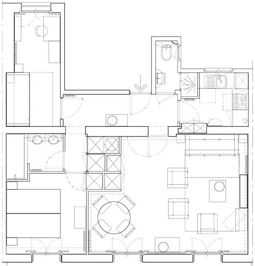 Floor plan of paris apartment for sale