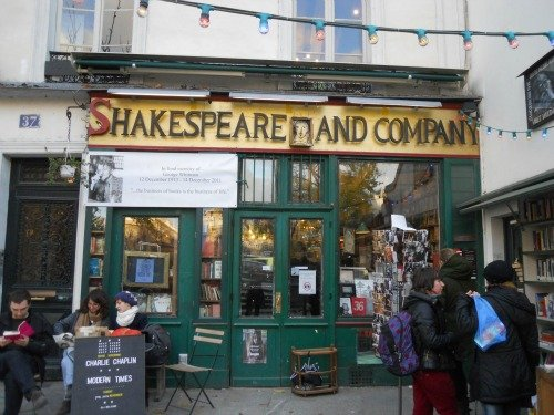 Shakespeare and Company Bookstore Entrance