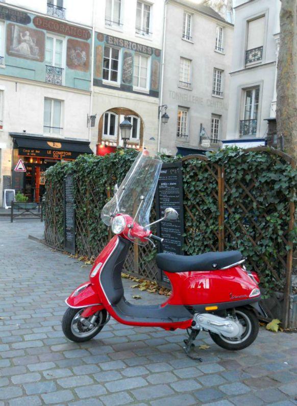 Vespa Scooter in Paris