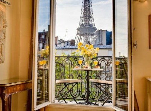 To call these amazing views of paris and the eiffel tower your own