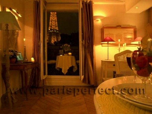 Cabernet One Bedroom Apartment for Sale Paris Eiffel Tower Views Dining Table