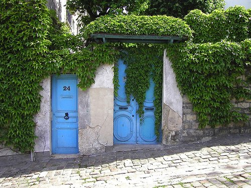 Charming Street in Montmartre Paris