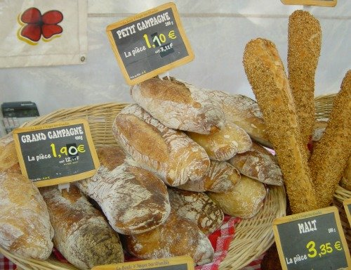 French Market Bread Display Paris