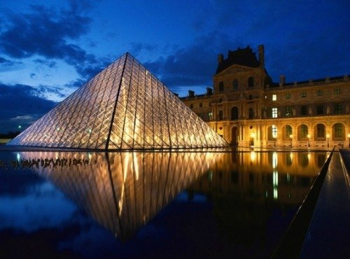 Louvre museum is a short bus ride away