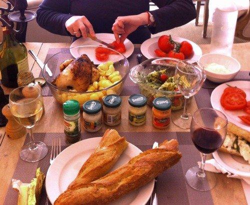 Delicious Paris Market Lunch