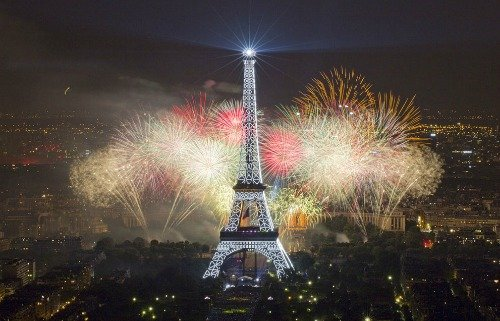 Paris from Above on Bastille Day