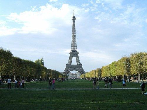Eiffel Tower and Champ de Mars Gardens