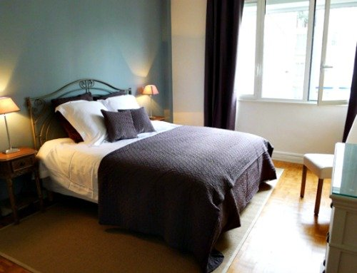 Peaceful Master bedroom Paris holiday rental