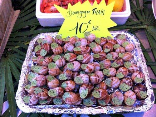 President Wilson Market Paris Fresh Snails