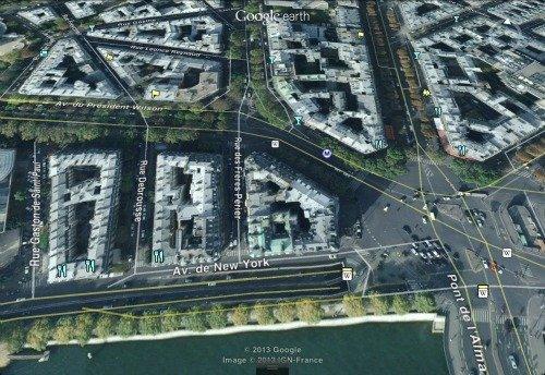 President Wilson Market Paris Map