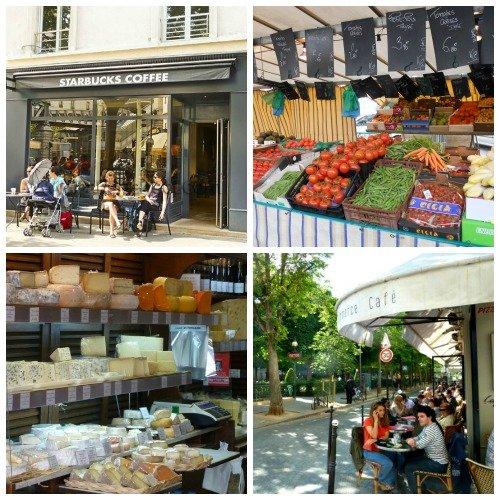 Rue du Commerce Markets and Cafes