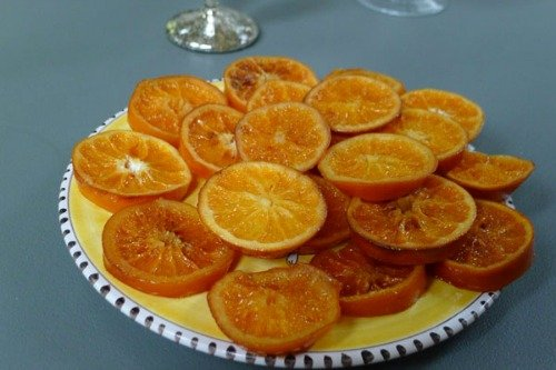 Recipe for candied orange slices