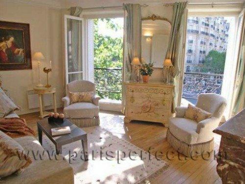 Bright and Sunny Parisian Living Room
