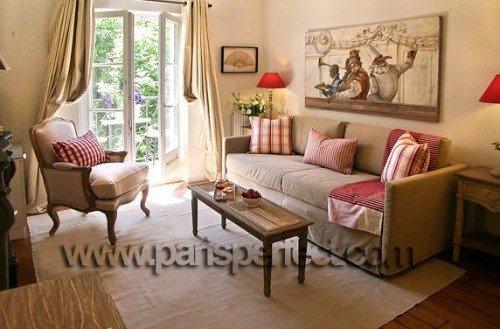 Charming Parisian Living Room