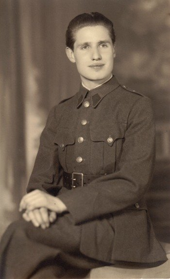 A handsome young Pierre in uniform before the war