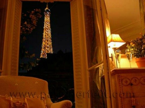 Eiffel Tower View from 7th Arrondissement Apartment