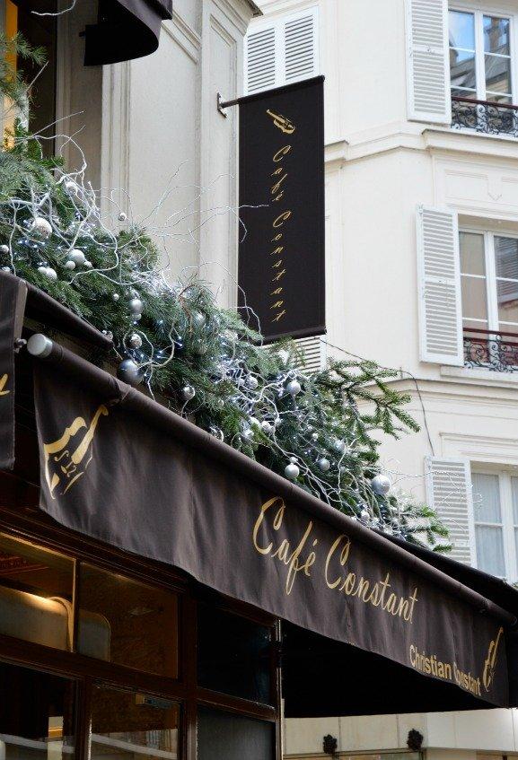 Christmas Decorations at Cafe Constant Paris