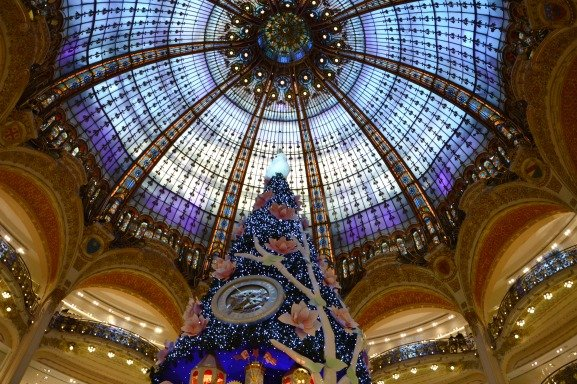 Holiday Magic at Galeries Lafayette in Paris