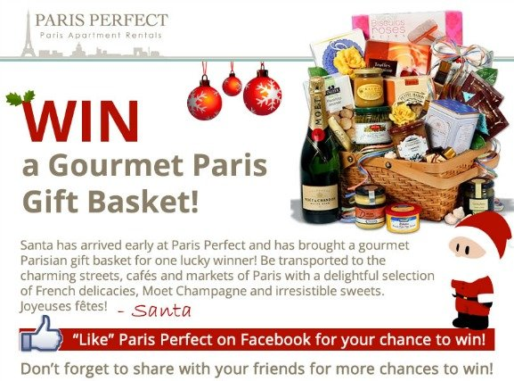 Happy Holidays – Win a Gourmet Paris Gift Basket!