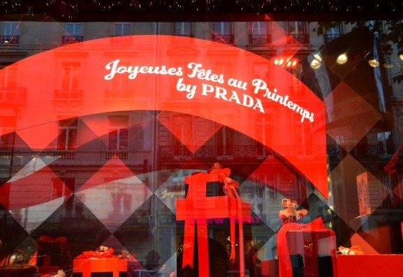 Prada Brings Christmas to Printemps