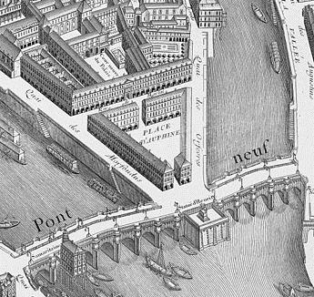 place dauphine 1700's map