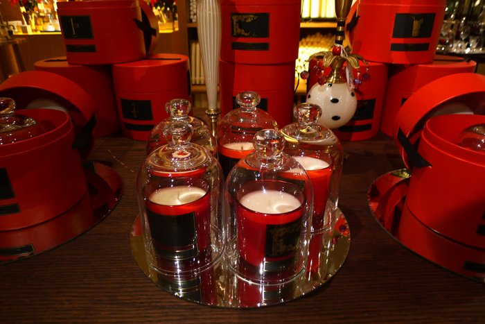 s red candles fortnums london