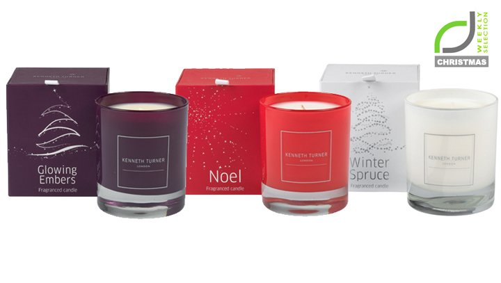 x kenneth turner christmas candles