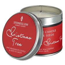 x stoneglow christmas tree candle