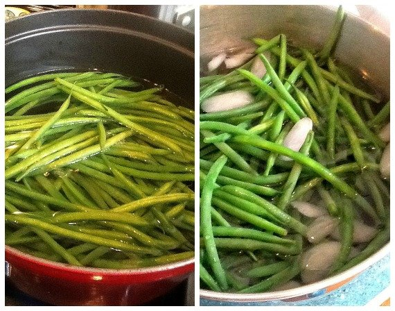 Cooking the Haricots Verts