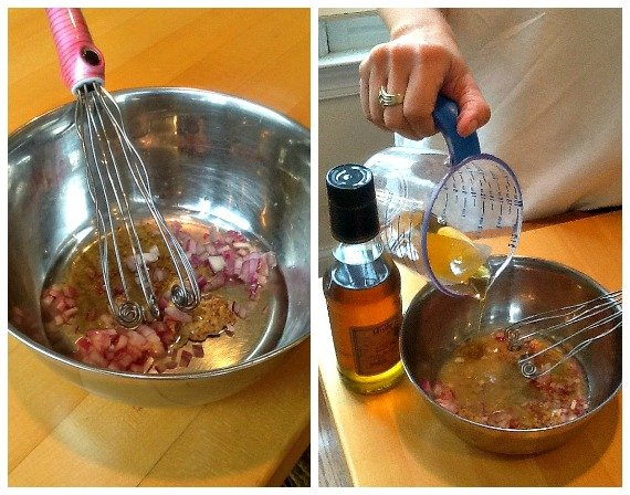 Making Walnut Vinaigrette
