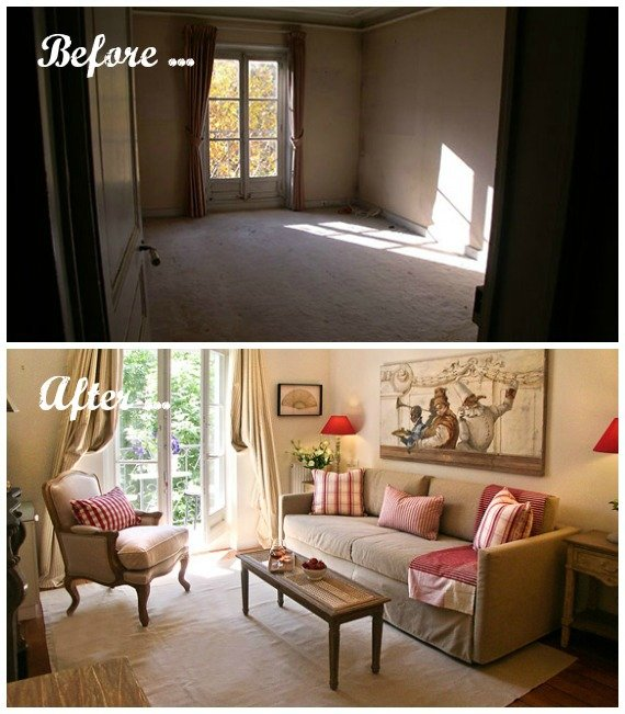 Living Room Renovation Before And After our most stunning paris apartment remodels - paris perfect