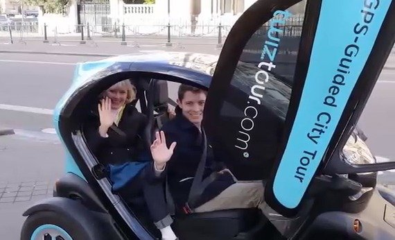 One Mom, One Son, One Twizy Car in Paris … Nightmare on the Champs-Elysées!
