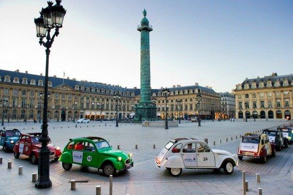 Flying Under an Umbrella in Paris
