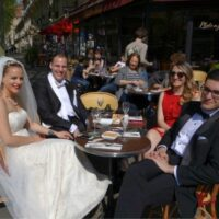 Wedding at Parisian Cafe