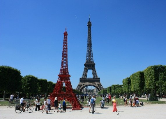 A Red Eiffel Tower?