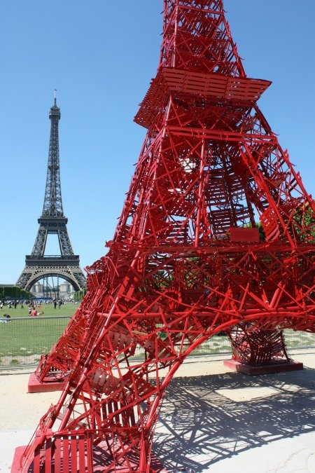 Fermob Red Eiffel Tower Paris