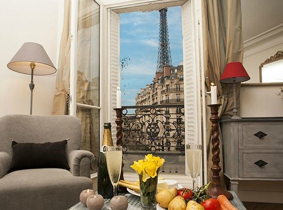 Romantic Paris Vacation Rental with Eiffel Tower View